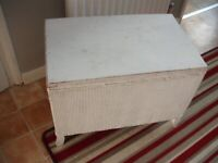 Wood and Wicker Storage Box (need TLC)