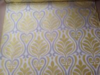 3.9 metres Designer Remnant Fabric for Curtains/ upholstery/ upcycling/ sewing/ crafts