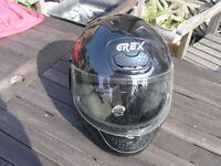 G Rex Italian Motor Cycle Helmet Small Size Full Face Type