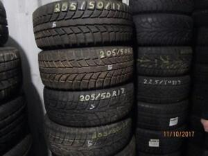 205/50R17 SET OF 4 USED WINTER TIRES OIN MAZDA RIMS