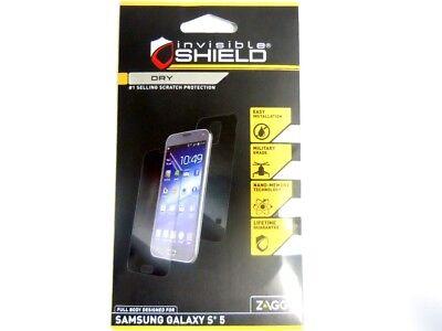 Zagg Samsung Galaxy S5 Invisible Shield Dry Full Body Screen Back Protector Film
