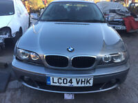 BMW M SPORTS 318 CI COUPE 2004 BREAKING FOR SPARES PARTS IN GREY MINT CONDITION