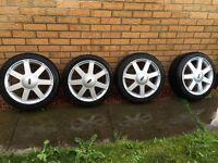 "Original 16"" set Ford Fiesta alloy wheels plus tyres 195 45 16"