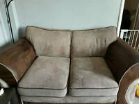 2 seater brown settee