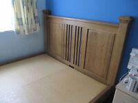 Fantastic solid oak king size bed frame