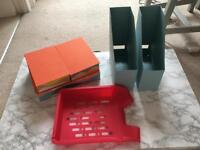 Office Bundle- file organisers, in tray, boxes