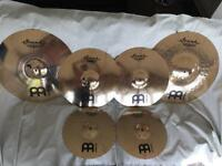 Meinl Soundcaster Cymbal Set Hi-hats/crashes/Mega Bell Ride