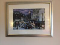 Framed Picture of the top of Leith walk in Edinburgh
