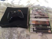 Xbox 360 Slim - With 20GB HDD, Controller, Power Supply & 6 Games
