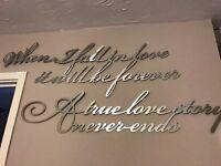 Next metal poetry quote script wall art