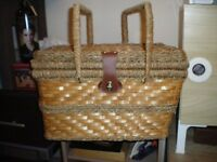 PICNIC BASKET WITH INSULATED FREEZER COMPARTMENT