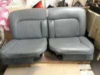 JAGUAR DAIMLER LOVELY ALL ORIGINAL PERIOD 60s LEATHER RECLINING SEATS 420/STYPE