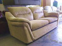 2/3 Seater Sofa Settee in Beige Oatmeal