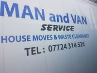 Cheap Man and van house moves waste services