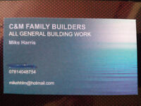 C&M Family Builders - No job too small/Fully Insured. External & Interior handyman works.