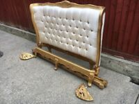 French style Rococo shabby chic kingsize bed