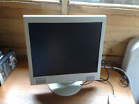 "17"" Relisys Monitor with speakers and cables on swivel"