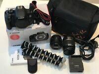 Canon EOS 700D Body, 2 Lenses, Filter, GorillaPod, Remote, and Camera Bag *VGC*