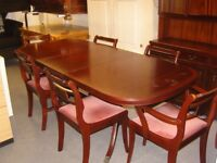 McIntosh Mahogany Dining Set. Extending Table and 6 Chairs