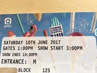 2 x Capital Summertime Ball tickets AMAZING FRONT SEATS WEMBLEY STADIUM