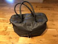 Storksak baby leather changing bag