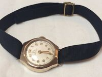 Vintage 9k 9ct solid gold ladies swiss Record watch