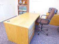 Office desk pedestal and chair