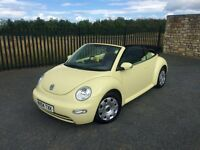 2004 04 VOLKSWAGEN BEETLE 1.6 CABRIOLET - LOW MILEAGE & FULL SERVICE HISTORY!