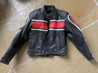 Hein gericke men's leather motorcycle jacket