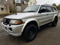 L@@K BARGAIN!! Mitsubishi Shogun Sport**2.5 Turbo Diesel**4x4**Towbar*Leather**Just £1500!!!