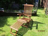 2 Wooden Loungers