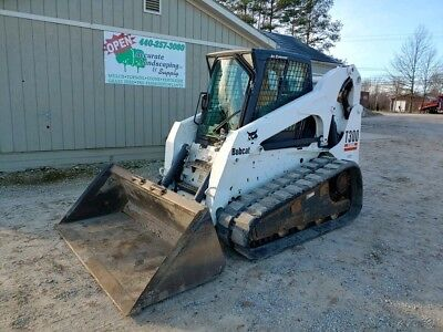 Bobcat T300 Track Skid Steer Loader Cab Heat Ac