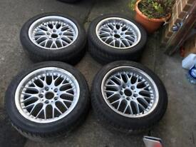 Genuine BBS BMW 5x120 2 piece split tins with tyres