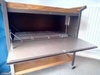 VINTAGE EDKO HEATED HOSTESS TROLLEY IN GOOD CONDITION AND WORKING ORDER.