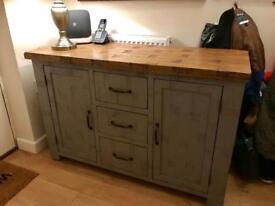 Oakfurnitureland clermont rough sawn sideboard