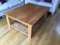 Large coffee table £95 - pine