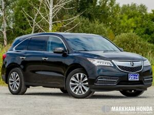 2014 Acura MDX NAVI at - 1OWNER|BEIGE LEATHER INTERIOR|SUNROOF|