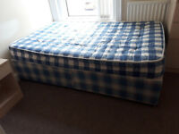 4 foot divan bed with mattress