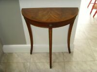 Reprodux Bevan Funnell Demi Lune Hall Side Table Up-cycling Project
