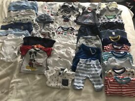 Used baby clothes 0-3 month old