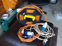 25M ELECTRIC HOOK UP CABLE WITH REEL AND OTHER CABLES