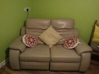 Real leather electric sofa