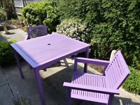 Upcycled Garden Table and Chair Set