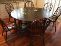 Dark Oak Gateleg Dining Table