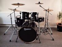 Premier Cabria Rock - Fusion full drum kit with Zildjian ZXT bronze cymbals set !