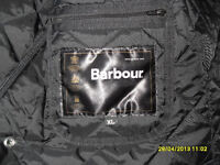 Barbour quilted jacket, lightweight ,packable....Black, XL size