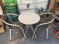 Garden bistro set for two