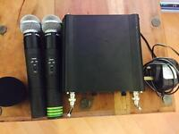Audio Master Dual VHF Wireless Microphone System