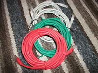 Ethernet cables x 4, Red, Green, & Cream/White RJ45 RJ-45