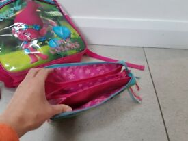 Beautiful Trolls Girls schoolbag and pencilcase